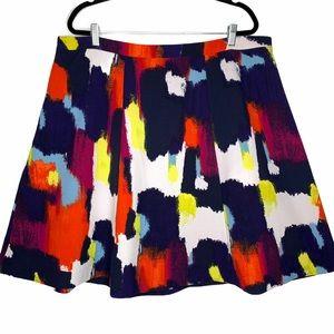 Ava Viv Colorful Print A Line Summer Skirt 20W
